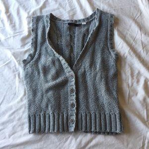 🌸 Lux Grey Sweater Vest — Medium